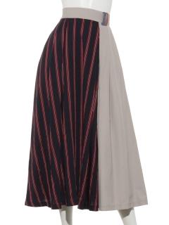 異素材切り替えスカート