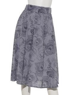 花柄プリントギャザースカート