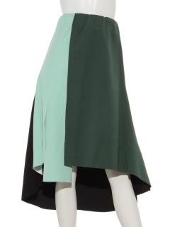 ボンディング配色スカート