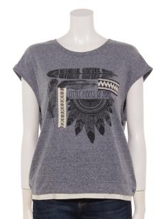 インディアンモチーフプリントTシャツ