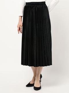 プリーツベロアスカート
