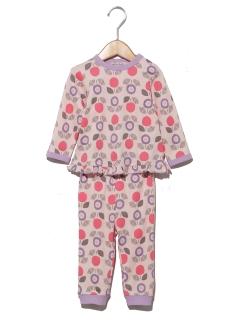 【ampersand】Girl's北欧植物総柄パジャマ