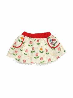 【petit jam】無地と柄のスカートパンツ