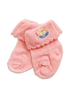 【petit jam】お花とちょうちょの透かし編みベビーソックス