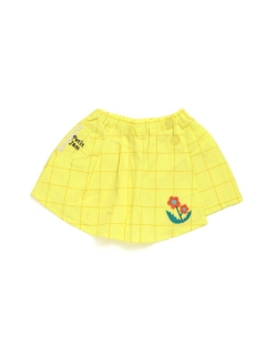 【petit jam】無地と柄のラップスカートパンツ