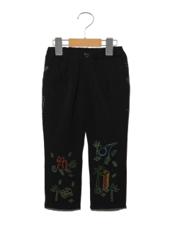 【BIT'Z】動物刺繍入りタックパンツ