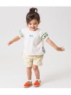 【petit jam】袖刺繍Tシャツ