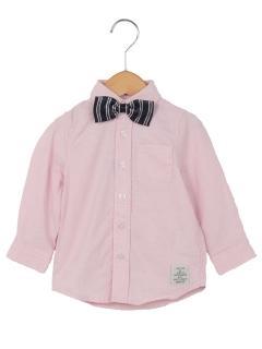 蝶タイ付きボタンダウンシャツ