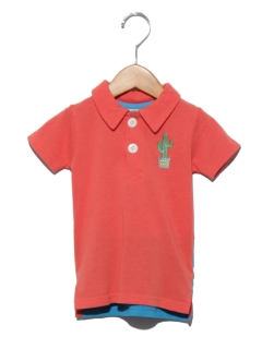 COOLサボテンワンポイントポロシャツ
