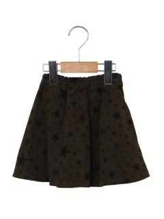 コール天星柄スカート