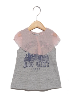 衿チュールTシャツ