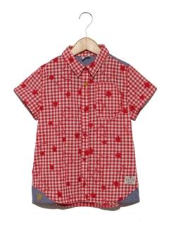 スター&チェックシャツ