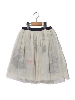 リメイク風チュールスカート