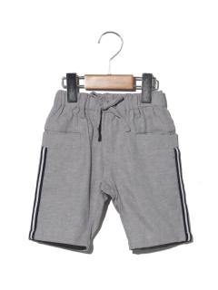 麻混5分丈ラインポケットパンツ