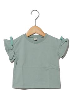 袖リボン半袖Tシャツ