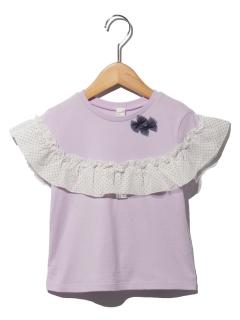 布帛フリルTシャツ