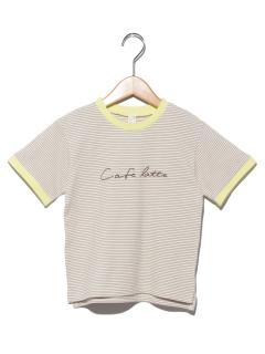 ラインリブ鹿の子Tシャツ
