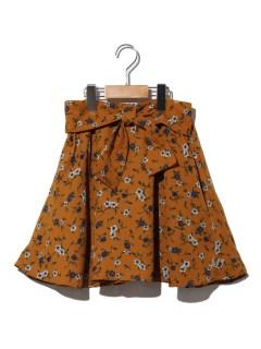 クロスりぼんフラワースカート