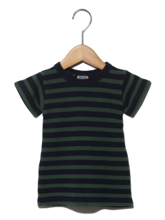 インディゴ鹿の子ボーダーTシャツ
