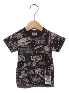 働く車総柄Tシャツ