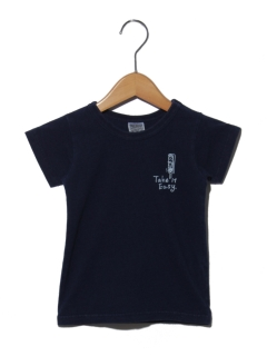 インディゴワンポイントTシャツ