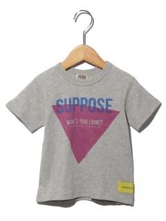 三角ロゴプリント半袖Tシャツ
