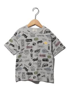 手描き総柄Tシャツ