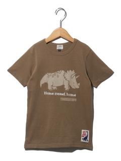 3柄恐竜プリントTシャツ