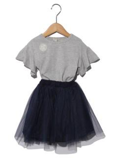Tシャツワンピとチュールスカートの2Pセット