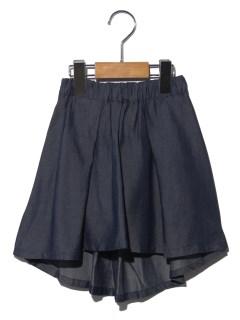フィッシュテールスカートインパンツ付き