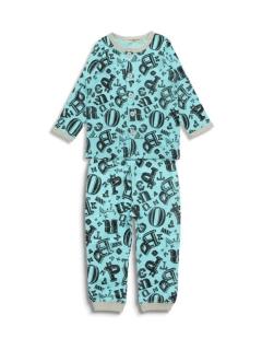 Boy'sロゴ総柄前開きパジャマ