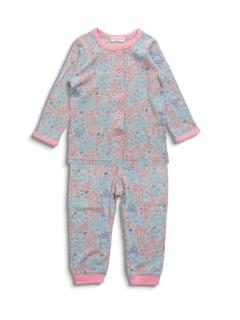 Girl's花総柄前開きパジャマ