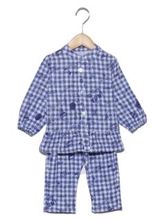 GIRL'S総柄チェックパジャマ