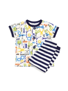 Boy's半袖長パンツパジャマ