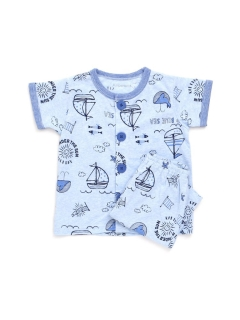Boy's半袖半パンツ前開きパジャマ