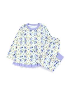 花柄前開きパジャマ