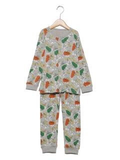 恐竜前開きパジャマ