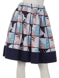 雪のかべスカート