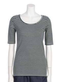 わびさびテレコ5分袖Tシャツ