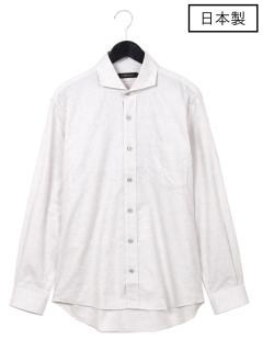 【日本製】ボタニカルワイドカラーシャツ