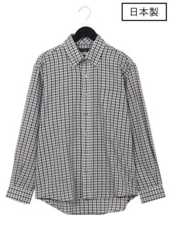 【日本製】スペック和紙チェックBDシャツ