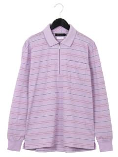 ジャガードボーダーzipシャツ