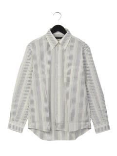 ストライプボタンダウンシャツ