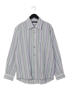 スペック和紙パナマストライプレギュラーシャツ