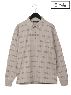 【日本製】鹿の子チェックBDポロシャツ