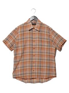 綿麻楊柳チェックRGシャツ