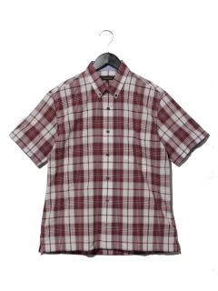 サッカーチェックショートBDシャツ