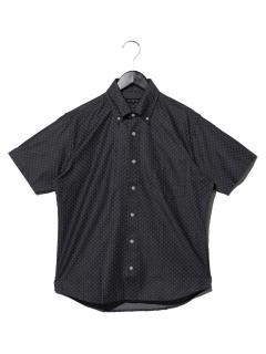 ダンガリー小紋柄プリントBDシャツ