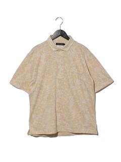 綿ポリボタニカルジャガードBDシャツ