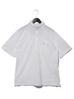 DUAL~×接触冷感鹿の子切替ポロシャツ